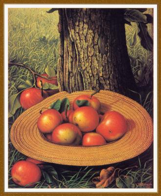 Леви Уэллс Прентис. Яблоки, шляпа и дерево