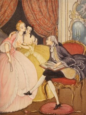 Gerda Wegener. Illustration for Giacomo Casanova, Love Adventures in Venice