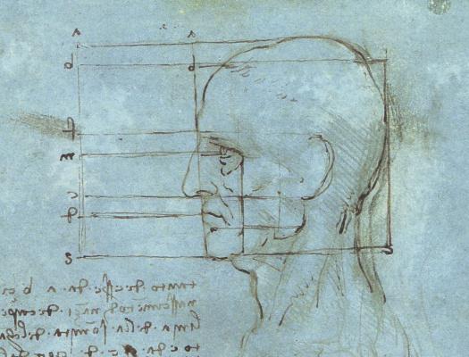 Леонардо да Винчи. Голубая голова