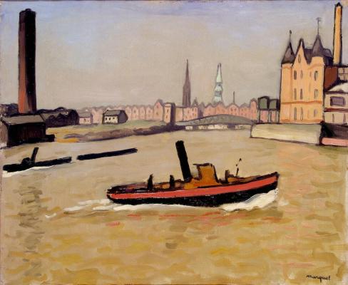 Albert Marquet. The port of Hamburg