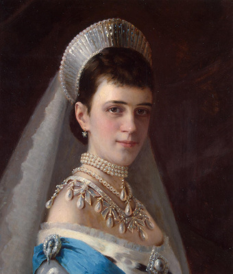 Ivan Nikolayevich Kramskoy. Portrait of Empress Maria Fyodorovna in a pearl headdress