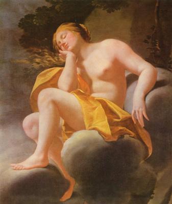 Симон Вуэ. Венера, спящая на облаках