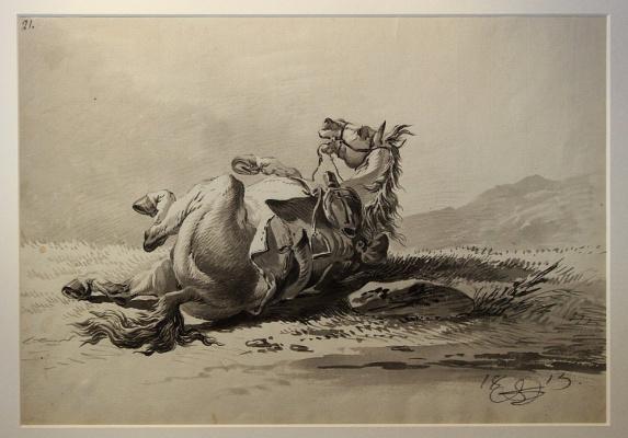 Alexander Osipovich Orel. Lying horse