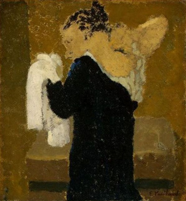 Jean Edouard Vuillard. The woman behind the toilet