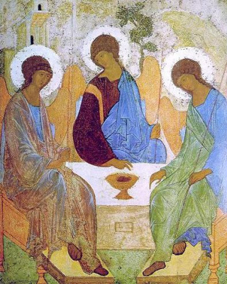 Icon Painting. Holy Trinity