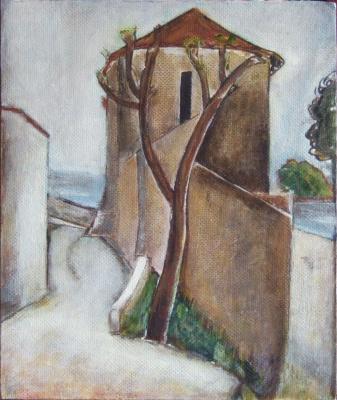 Андрей Харланов. Copy: Modigliani - Tree and Houses