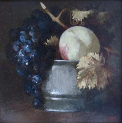 Arsen Abrarovich Rustamov (1947). Peach in a vase