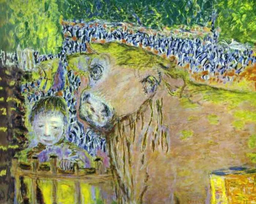 Pierre Bonnard. The cow and the child