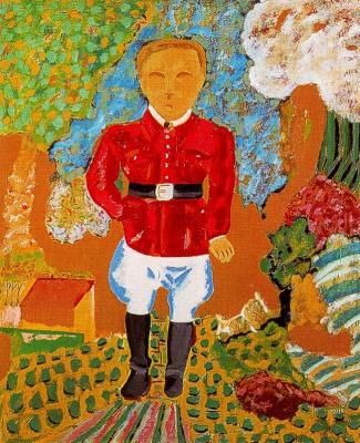 Хуан Антонио Агирре. Мужчина в красном