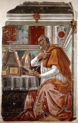 Sandro Botticelli. Augustine