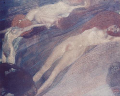 Gustav Klimt. In the water flow