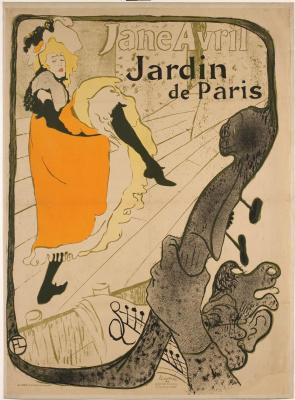 Henri de Toulouse-Lautrec. Jane Avril in Jardin de Paris poster
