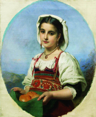 Константин Егорович Маковский. Молодая итальянка с померанцами