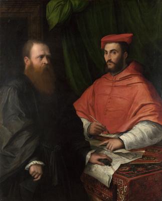 Джироламо да Карпи. Кардинал Ипполито Медичи и монсеньор Марио Браччи