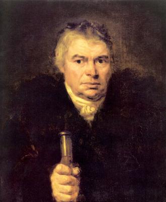 Orest Adamovich Kiprensky. Portrait of the father of the artist Adam Karlovich Schwalbe