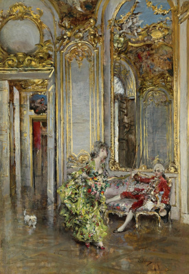 Giovanni Boldini. Friend awnings