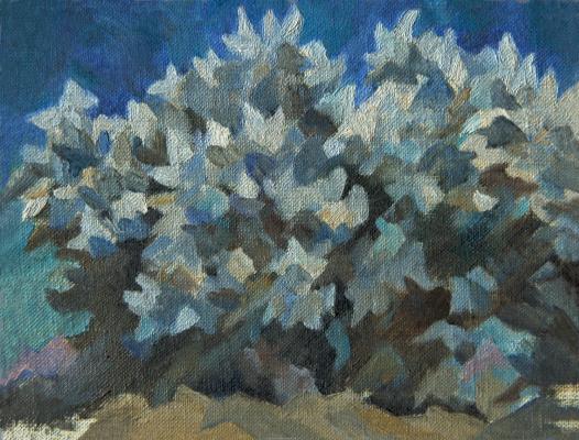 Andrei Ivanovich Borisov. Blue bush