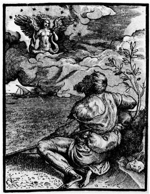 Titian Vecelli. Aretin and siren