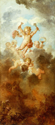 "Jean Honore Fragonard. Love is triumphant. From series of paintings ""Love adventure"""