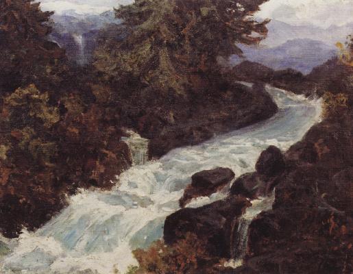 Vasily Dmitrievich Polenov. Waterfall. Etude