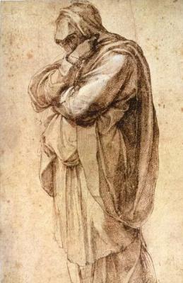 Микеланджело Буонарроти. Этюд женщины в трауре