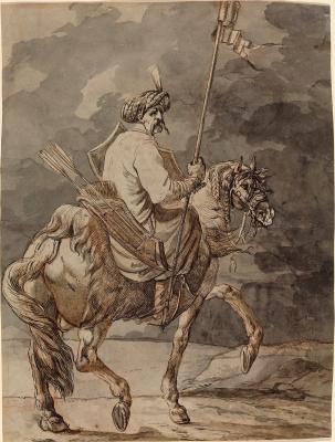 Alexander Osipovich Orel. Polish horseman.