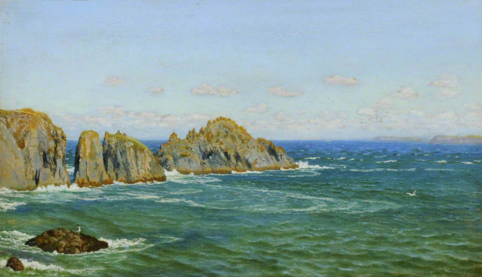 Arthur Hughes. Rocky Coast, North Cornwall