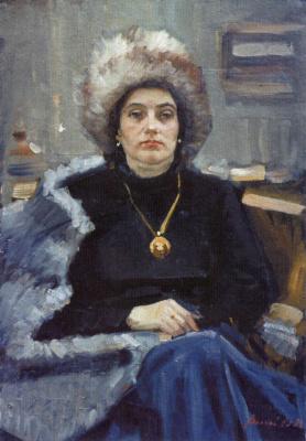Yuri Nikolaevich Volkov. Nina. Portrait of the artist's wife