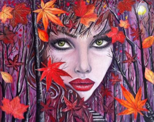 Cristina de biasio. Gaia Goddess Autumn