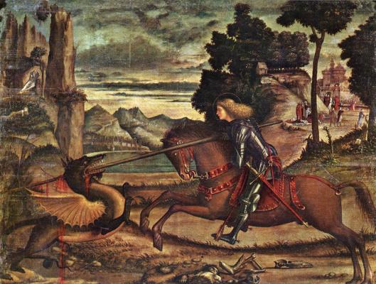 Vittore Carpaccio. SV. George and the dragon