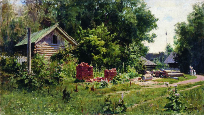 Vasily Dmitrievich Polenov. Patio