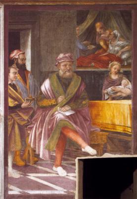 Giuseppe Arcimboldo. Scenes from the life of St. John the Baptist. The Naming Of The Baptist