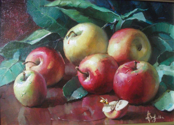 Sergey Anatolevich Bondaryuk. Still life with apples