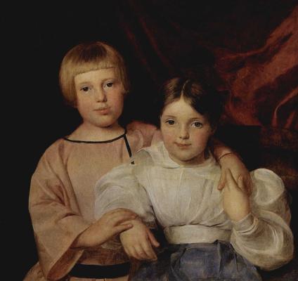 Ferdinand Georg Waldmuller. Children