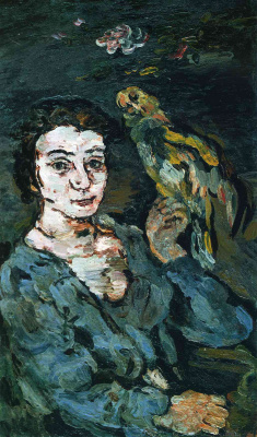 Oskar Kokoschka. Woman with a bird