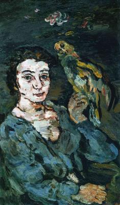 Oskar Kokoschka. Woman with a bird