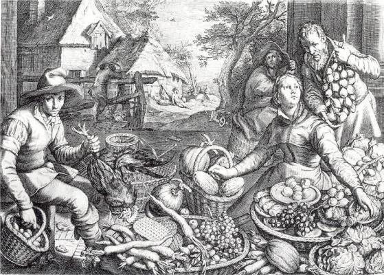 Якоб Матхам. Корзины с фруктами и овощами