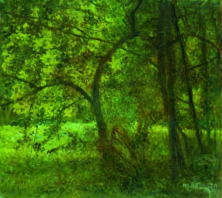 Tetyana Yablonska. Green grove