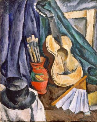 Petr Petrovich Konchalovsky. Still life. Guitar