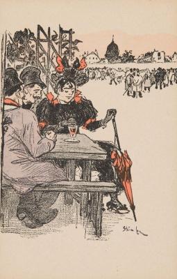 Теофиль-Александр Стейнлен. Выпивающие в уличном кофе