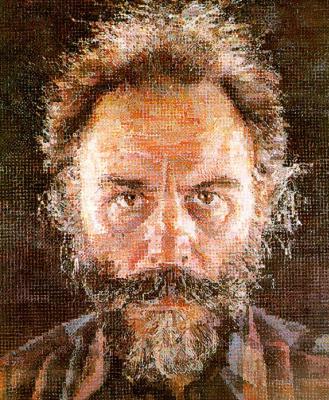 Чак Клоуз. Мужской портрет