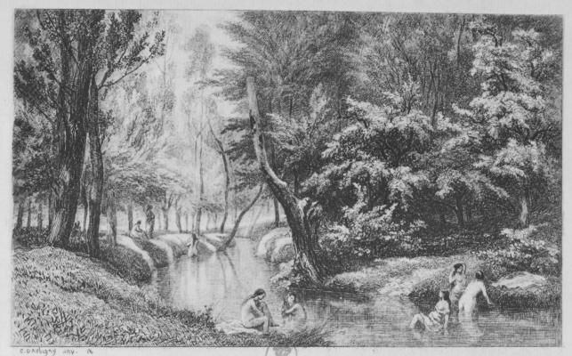 Charles-Francois Daubigny. Bathers, memories of Valmondois