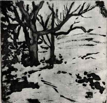 Edgar Degas. Trees