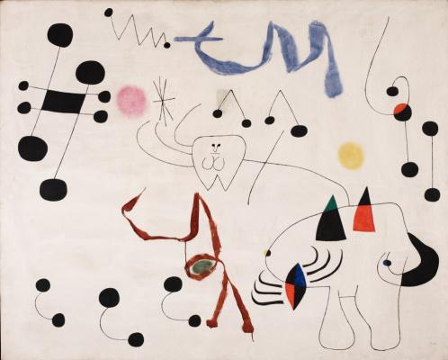 Joan Miro. Woman dreams of escape