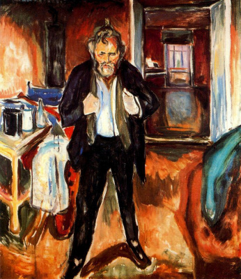 Edvard Munch. Self-portrait (in confusion)