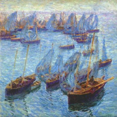 Бернард Гутман. Бретонские рыбацкие лодки