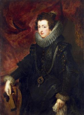 Peter Paul Rubens. The portrait of Queen Elizabeth