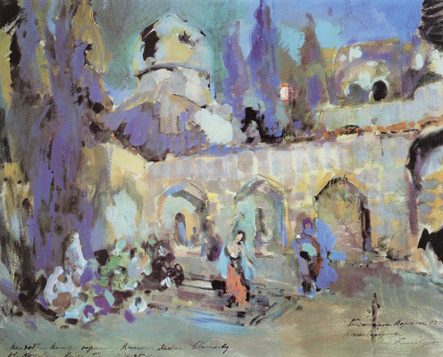 "Konstantin Korovin. Dance. A sketch of the scenery for the ballet TS Puni ""the little humpbacked Horse"" at the Mariinsky theater in St. Petersburg"