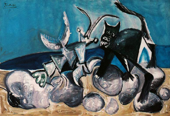 Pablo Picasso. The cat and the lobster on the beach