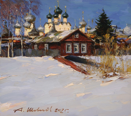 Alexander Victorovich Shevelyov. The Spring Growth.Oil on canvas 30 # 34 see 2012